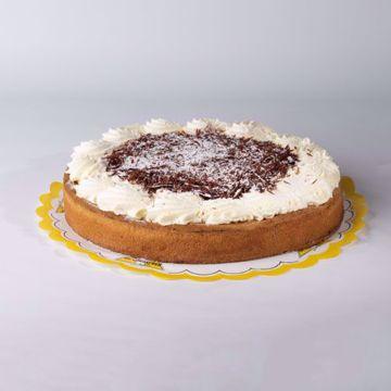Afbeeldingen van Rijstevlaai slagroom en chocolade