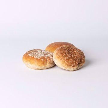 Afbeeldingen van Mini bol bruin zacht assorti per 10 stuks