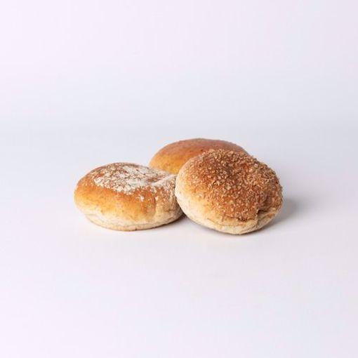 Afbeelding van Mini bol bruin zacht assorti per 10 stuks